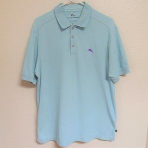 Tommy Bahama Blue Pima Cotton Polo Shirt